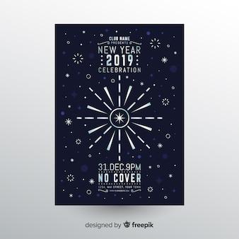 Bandeira de festa de ano novo