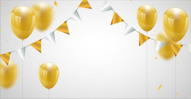 Bandeira de festa de celebração