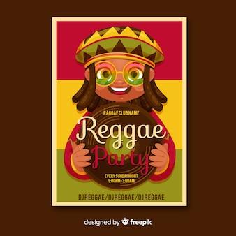 Bandeira de festa de reggae