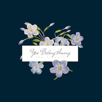 Bandeira de flores de phlox