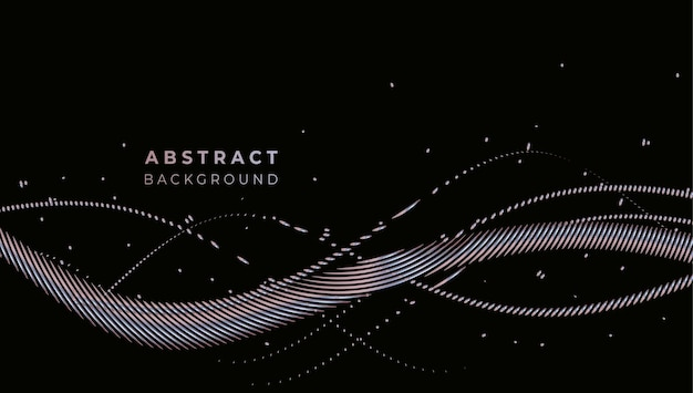 Bandeira de formas geométricas de promoção tecnológica abstrata, pano de fundo de tecnologia de padrão de estrutura.