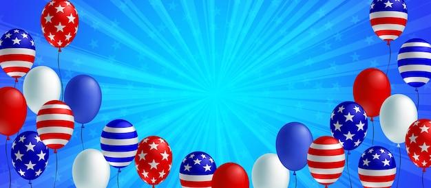 Bandeira de fundo azul burst
