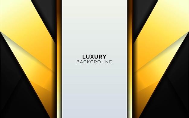 Bandeira de fundo de forma abstrata de luxo cinza e ouro.