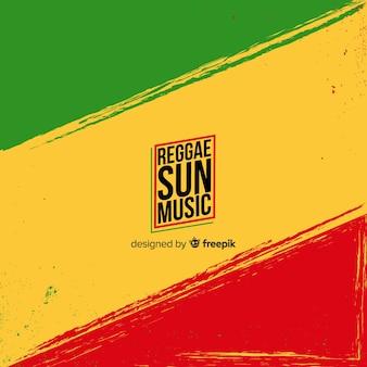 Bandeira de fundo de reggae