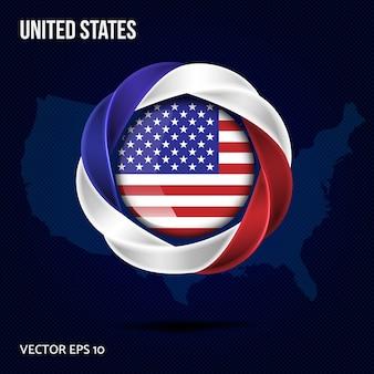 Bandeira de fundo dos estados unidos