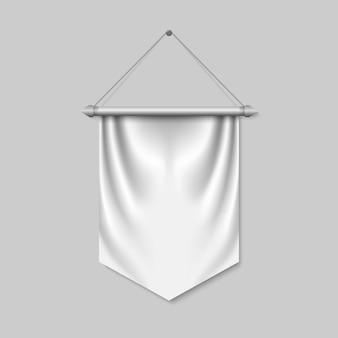 Bandeira de galhardete 3d vazia