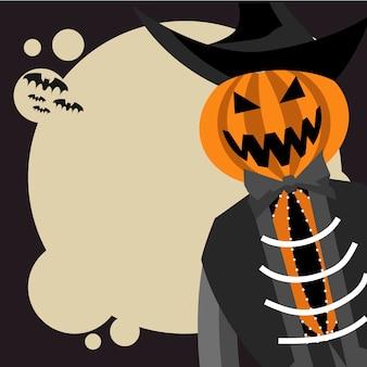 Bandeira de halloween de homem abóbora