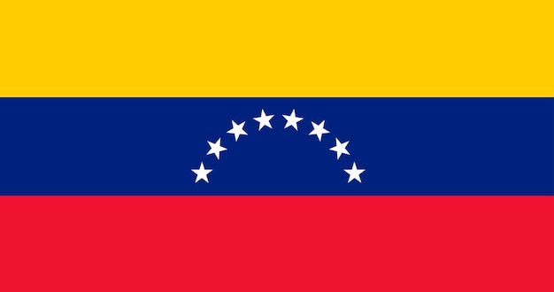 Bandeira de ilustração da venezuela