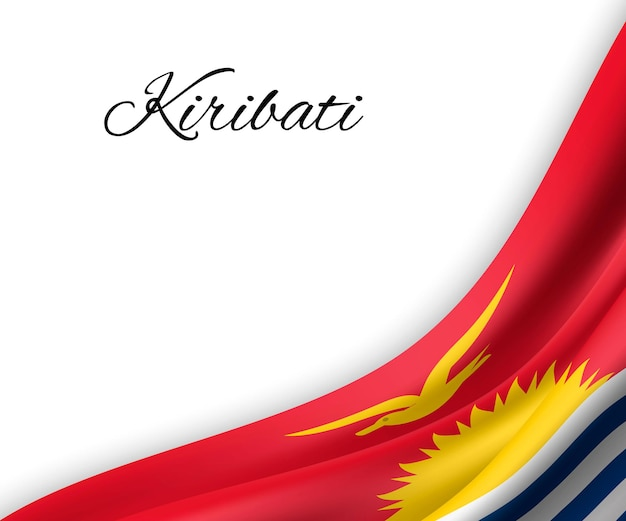 Bandeira de kiribati em fundo branco.