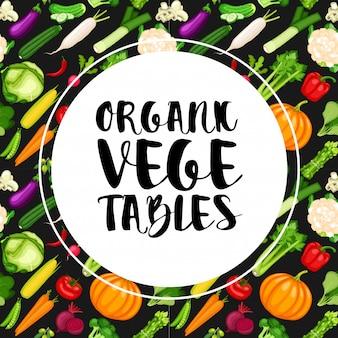 Bandeira de legumes orgânicos