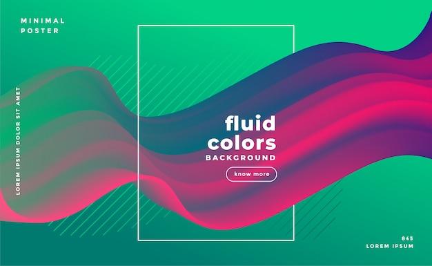 Bandeira de loop de fluido abstrata