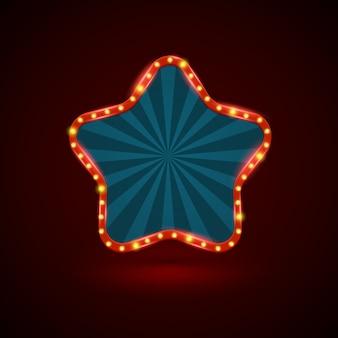 Bandeira de luz retrô estrela abstrata