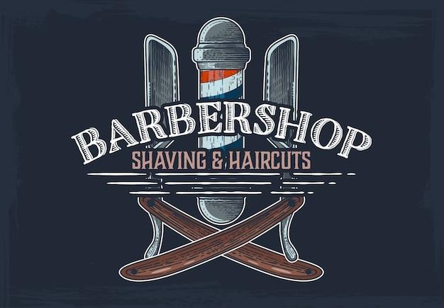 Bandeira de mão desenhada de barbearia