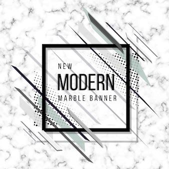 Bandeira de mármore abstrata moderna nova cinza