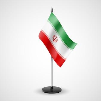 Bandeira de mesa do irã