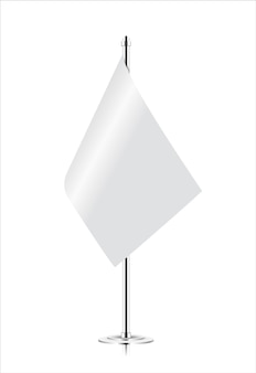 Bandeira de mesa realista