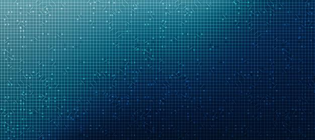 Bandeira de microchip de tecnologia de segurança, hi-tech digital e conceito de segurança.