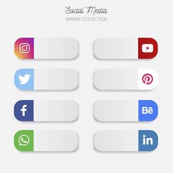 Bandeira de mídia social moderna