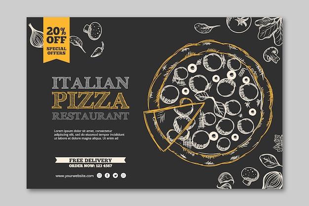 Bandeira de modelo de restaurante italiano