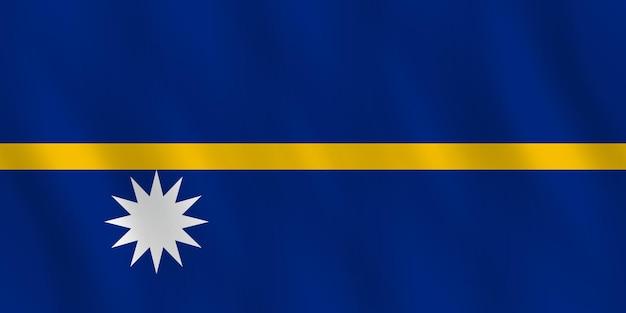 Bandeira de nauru com efeito ondulante, proporção oficial.