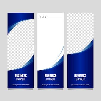 Bandeira de negócios elegante moderno