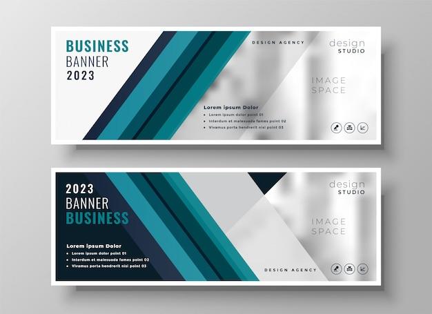 Bandeira de negócios profissional apresentação azul