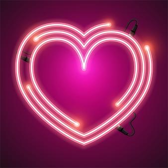 Bandeira de néon do coração