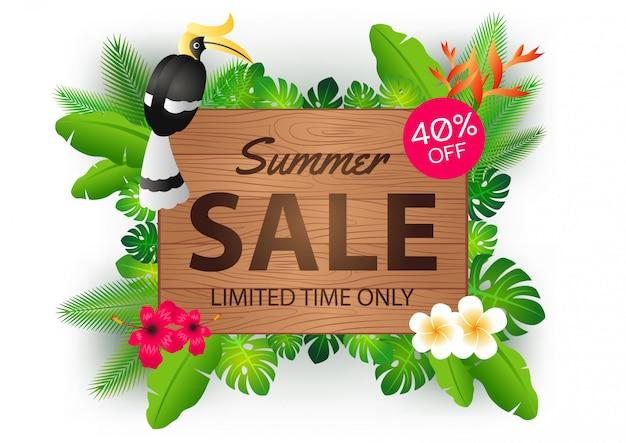 Bandeira de oferta de venda de verão