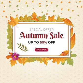 Bandeira de oferta de venda especial de outono
