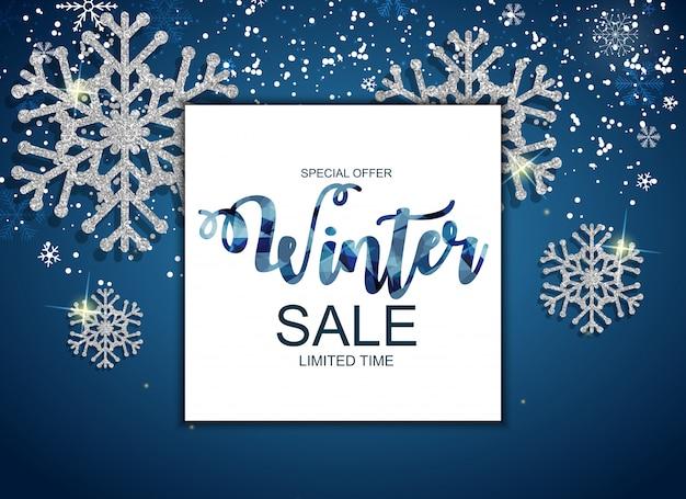 Bandeira de oferta especial de venda de inverno
