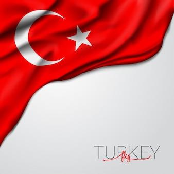 Bandeira de ondulação de turquia