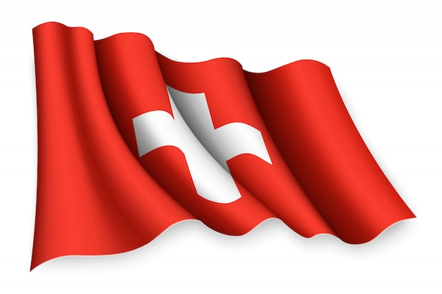 Bandeira de ondulação realista