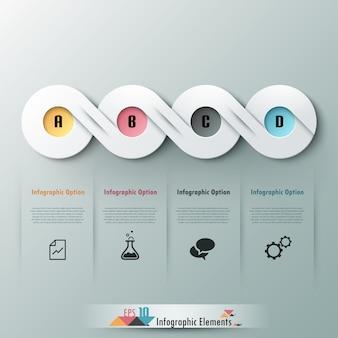 Bandeira de opção abstrata moderna infográfico