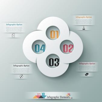 Bandeira de opção moderna infográfico abstrata