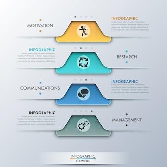 Bandeira de opção moderna infográfico