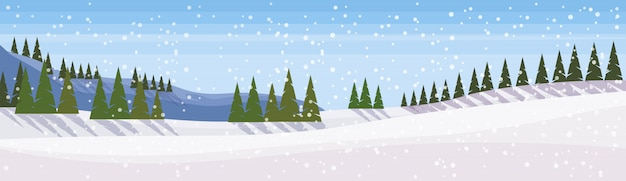 Bandeira de paisagem de inverno