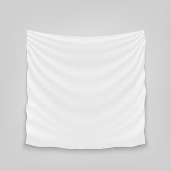 Bandeira de pano de tecido de pano branco vazio de suspensão.