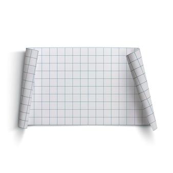 Bandeira de papel curvada, isolada no fundo branco. ilustração.