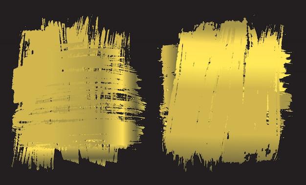 Bandeira de pincel de ouro stoke