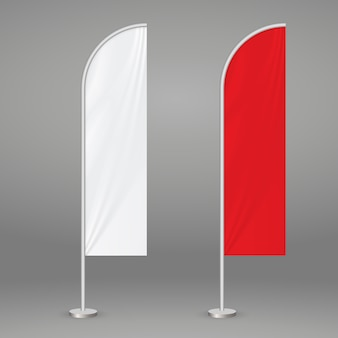 Bandeira de praia de penas
