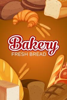 Bandeira de produtos de pão
