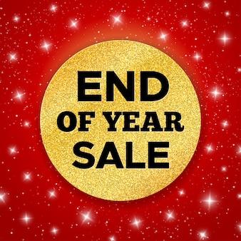 Bandeira de promoção de venda de final de ano