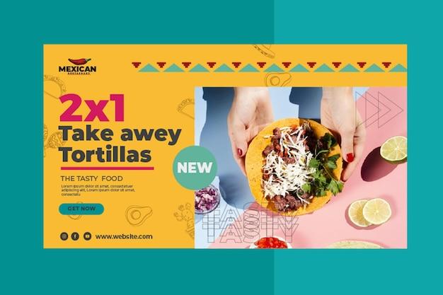 Bandeira de restaurante mexicano