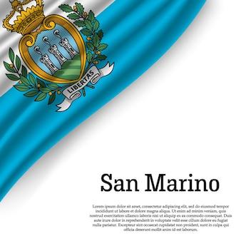 Bandeira de san marino em branco