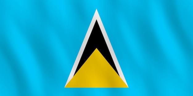 Bandeira de santa lúcia com efeito ondulante, proporção oficial.