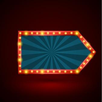 Bandeira de seta luz retrô abstrata