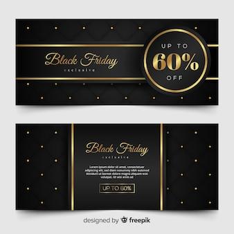 Bandeira de sexta-feira negra dourada