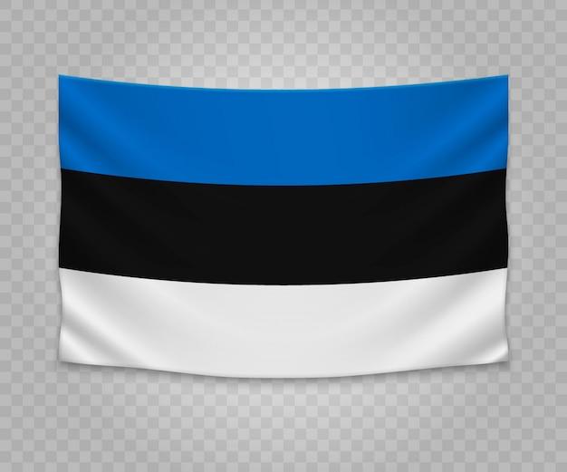Bandeira de suspensão realista da estónia