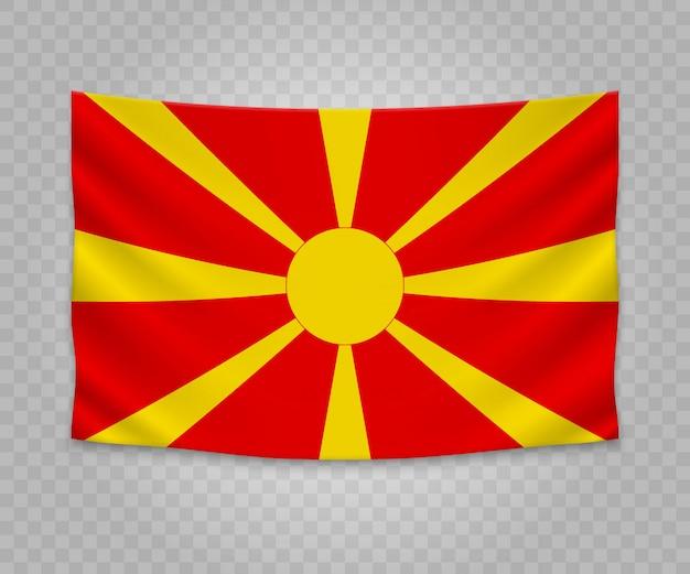 Bandeira de suspensão realista da macedónia