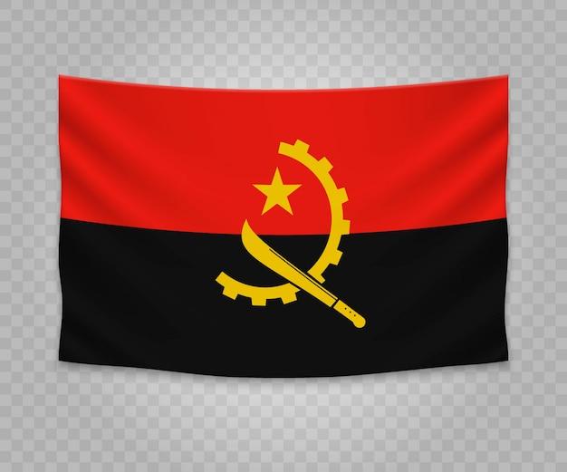 Bandeira de suspensão realista de angola